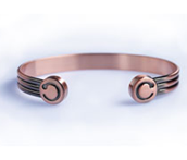 copper finished duo bangle