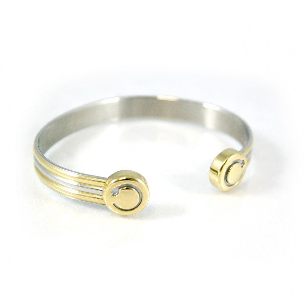 duet gold with silver trim bracelet