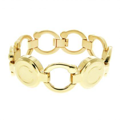 pirouette polished gold bracelet