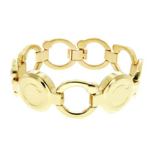 pirouette polished gold bracelet