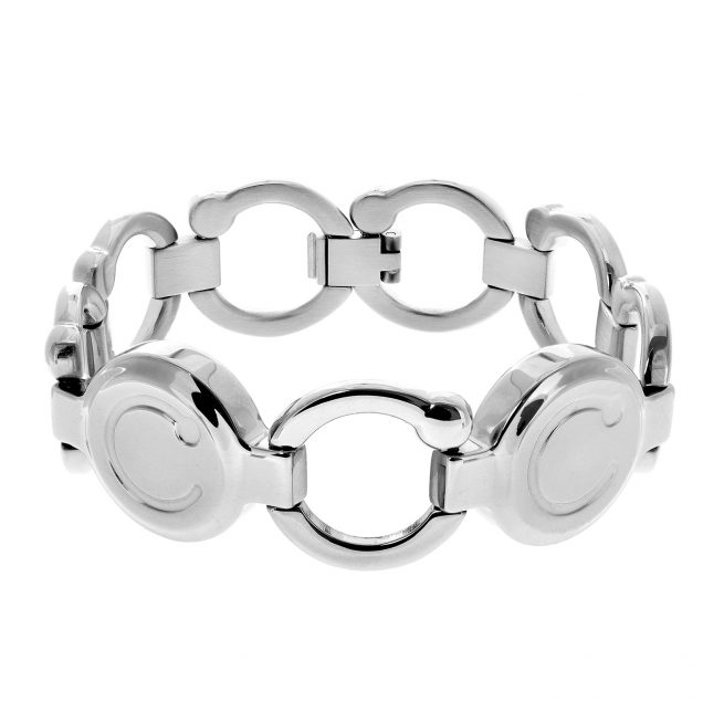 pirouette bracelet with stainless steel finish
