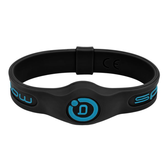 sport band in black with blue highlights