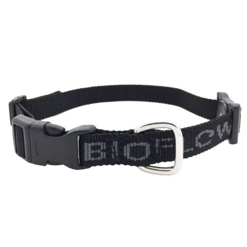 black bioflow dog collar