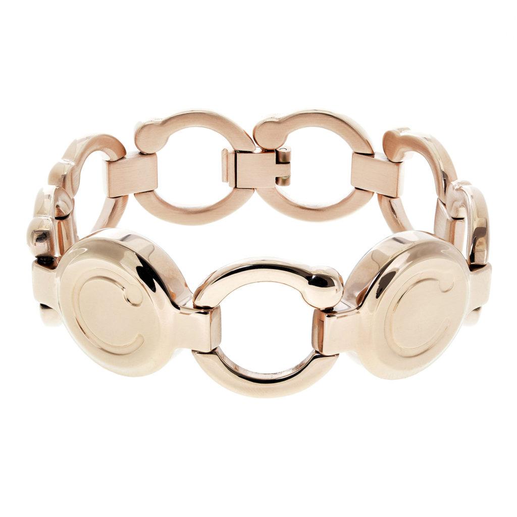pirouette polished rose gold bracelet