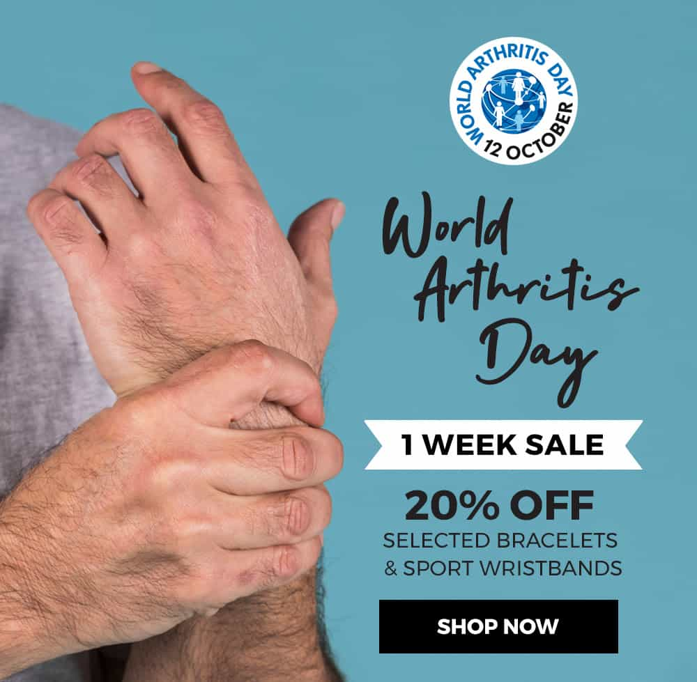 world arthritis day man holding wrist
