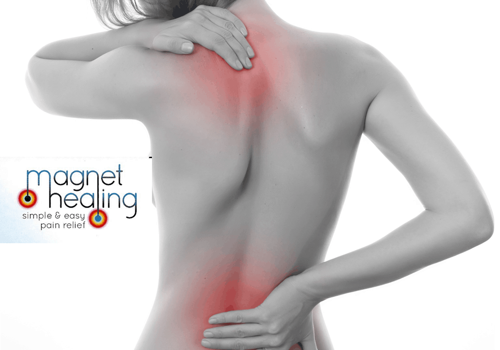Magnet Healing facebookwoman holding her back in pain